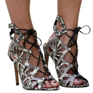 Dolce Vita Helena Snake Print Heels